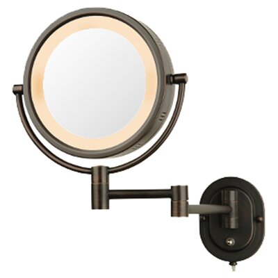 Lighted 5X Magnifying Wall Mirror