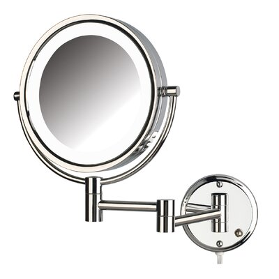 Dual Sided 8x Wall Mount LED Lighted Mirror