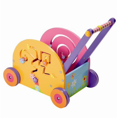Boikido Wooden Push & Play Mouse Wagon