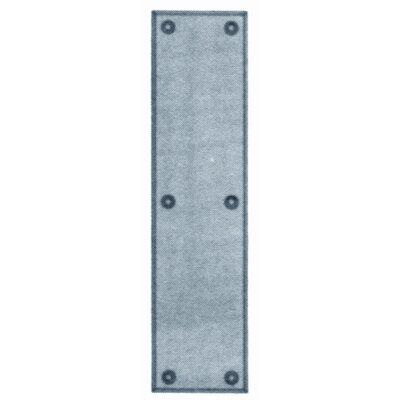 Baldwin Standard Push Plate in Satin Nickel