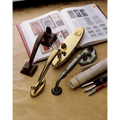 Baldwin Canterbury Sectional Trim Full Dummy Handle Set in Lifetime Polished Brass