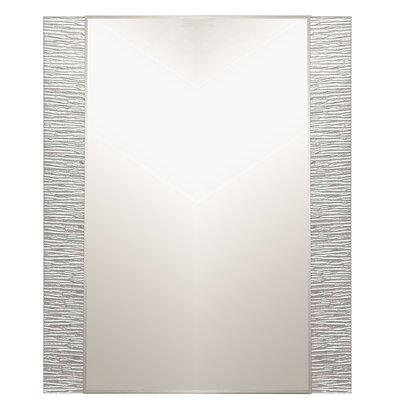 """Decor Wonderland 31.5"""" H x 23.6"""" Frameless Molten Wall Mirror"""