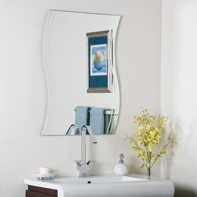 Decor Wonderland Frameless Surf Wall Mirror