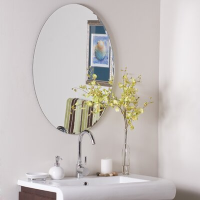 Decor Wonderland Frameless Ava Wall Mirror