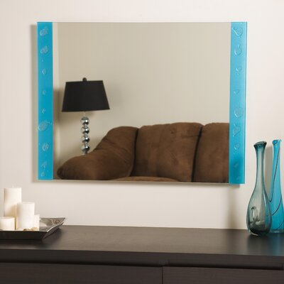 "Decor Wonderland 23.6"" H x 31.5"" W Resto Frameless Mirror"