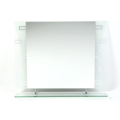 Decor Wonderland Frameless Aydin Wall Mirror and Shelf