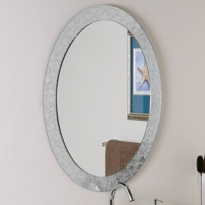 "Decor Wonderland 31.5"" H x 23.6"" Frameless Crystal Wall Mirror"