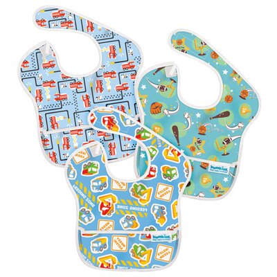 Bumkins SuperBib Boy's 3 Pack