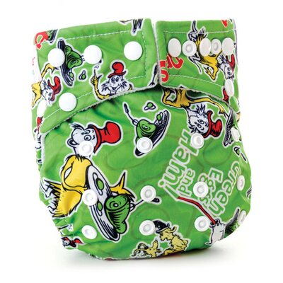 Bumkins Green Eggs & Ham All in One Cloth Diaper