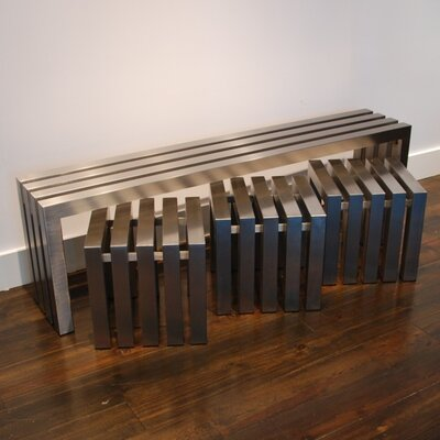 Sarabi Studio Linear Stainless Steel Cube Table