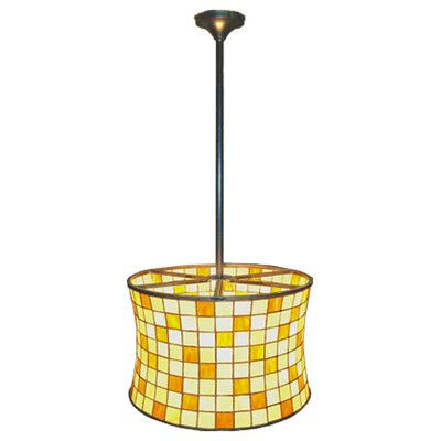Deco Hilton 2 Light Barrel Drum Pendant