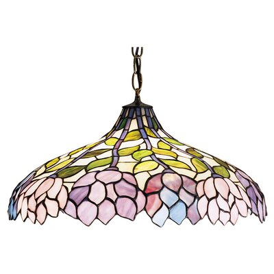 Meyda Tiffany Tiffany Wisteria 3 Light Pendant
