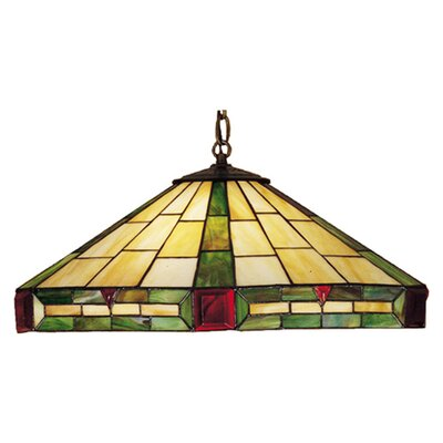 Meyda Tiffany Deco 3 Light Pendant