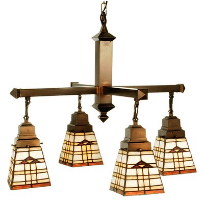 Meyda Tiffany Arrowhead Mission 4 Light Chandelier