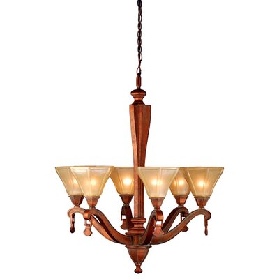 6 Light Rustic Oakland Chandelier