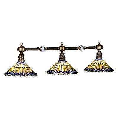 Tiffany Jeweled Peacock 3 Light Kitchen Island Pendant