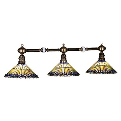 Tiffany Jeweled Peacock 3 Light Kitchen Island Pendant