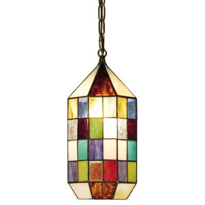 Meyda Tiffany Meyer Panel Lantern 1 Light Mini Pendant