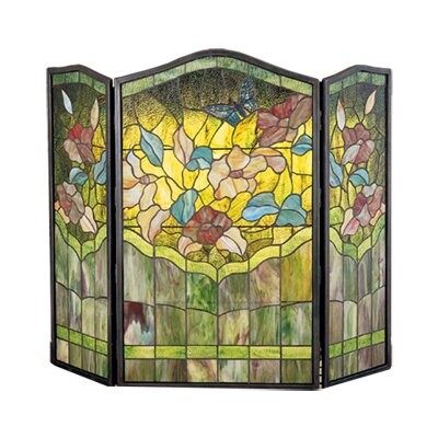 Meyda Tiffany Butterfly 3 Panel Fireplace Screen