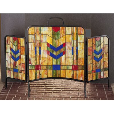 Meyda Tiffany Prairie Wheat 3 Panel Fireplace Screen