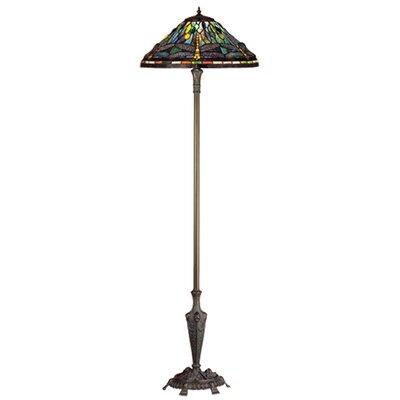 meyda tiffany tiffany hanginghead dragonfly bridge arm floor lamp. Black Bedroom Furniture Sets. Home Design Ideas