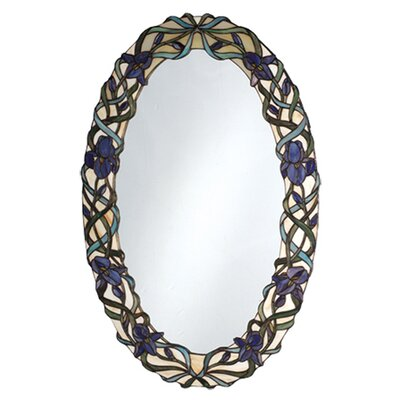 Tiffany Iris Framed Wall Mirror