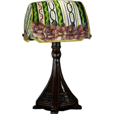 Meyda Tiffany Puffy Ravenna Floral Accent Table Lamp