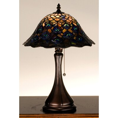 Meyda Tiffany Tiffany Peacock Feather Accent Table Lamp