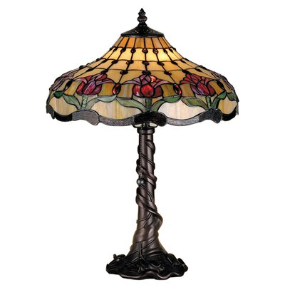 Meyda Tiffany Victorian Tiffany Nouveau Colonial Tulip Table Lamp
