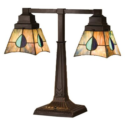 Meyda Tiffany Mackintosh Leaf Mission Table Lamp