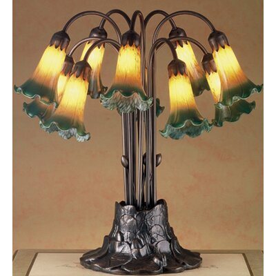 Meyda Tiffany Victorian Pond Lily 10 Light Table Lamp