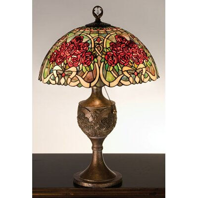 Meyda Tiffany Rose Bouquet Accent Table Lamp