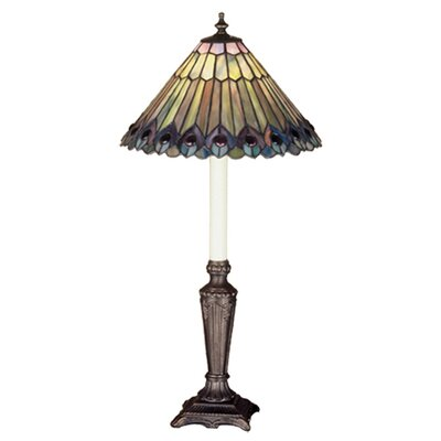 Meyda Tiffany Tiffany Jeweled Peacock Buffet Table Lamp