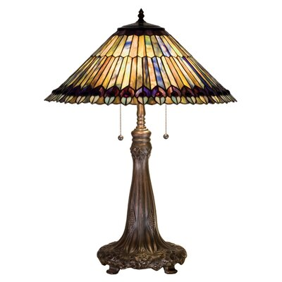 Meyda Tiffany Tiffany Jeweled Peacock Table Lamp