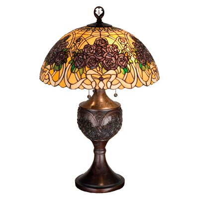 Meyda Tiffany Rose Bouquet Table Lamp