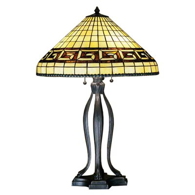 Meyda Tiffany Greek Key Table Lamp