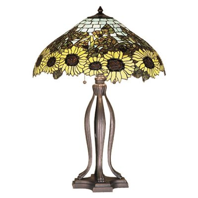 Meyda Tiffany 30&quot; H Wild Sunflower Table Lamp