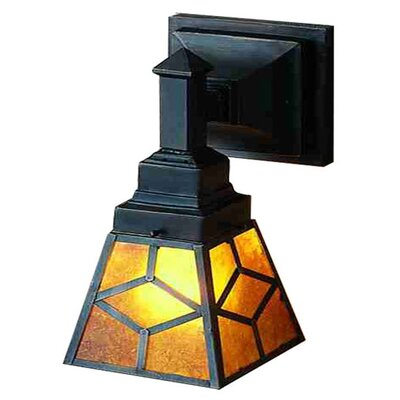Amber Mica Diamond Mission Wall Sconce