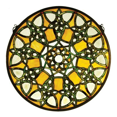 Meyda Tiffany Tiffany Knotwork Trance Medallion Stained Glass Window