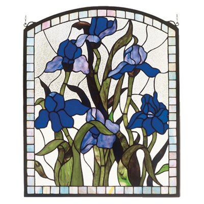 Meyda Tiffany Tiffany Nouveau Iris Stained Glass Window