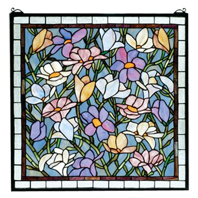 Meyda Tiffany Tiffany Floral Nouveau Sugar Magnolia Stained Glass Window