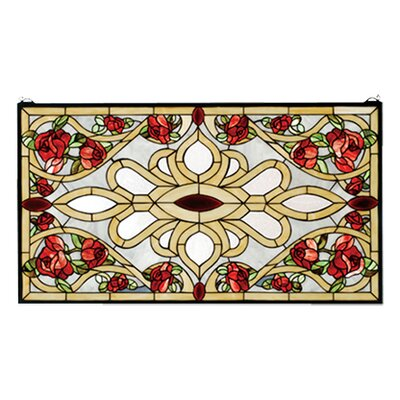 Meyda Tiffany Victorian Tiffany Floral Nouveau Country Bed of Roses Stained Glass Window