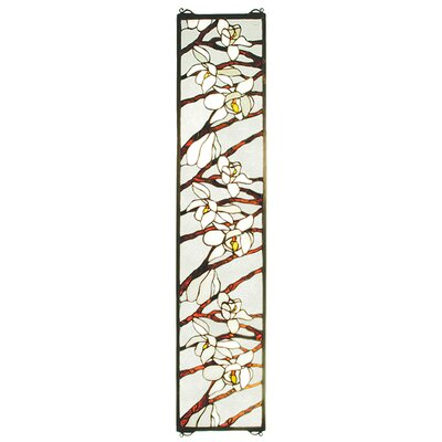 Meyda Tiffany Tiffany Floral Magnolia Stained Glass Window