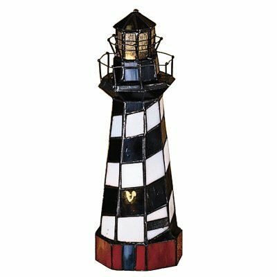 Meyda Tiffany Nautical Cape Hatteras Lighthouse Accent Table Lamp