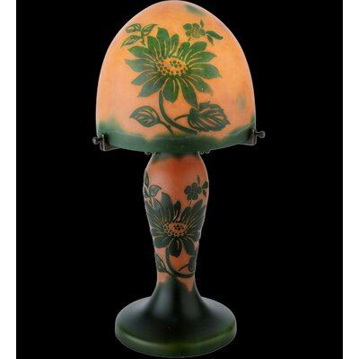 Meyda Tiffany Floral Galle Clarissa Lighted Base Table Lamp