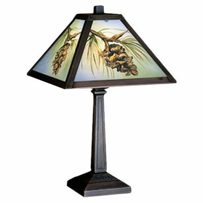 <strong>Meyda Tiffany</strong> Rustic Lodge Prairie Northwoods Pinecone Accent Table Lamp