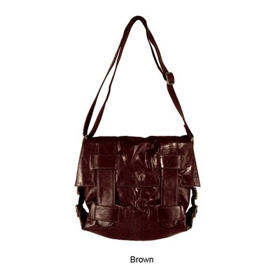 Latico Leathers Mimi in Memphis Regina Large Cross-Hatch Shoulder Bag