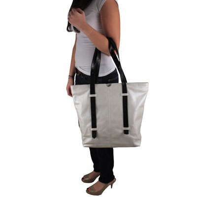 Latico Leathers Bobbie Metallic Block Large Tote