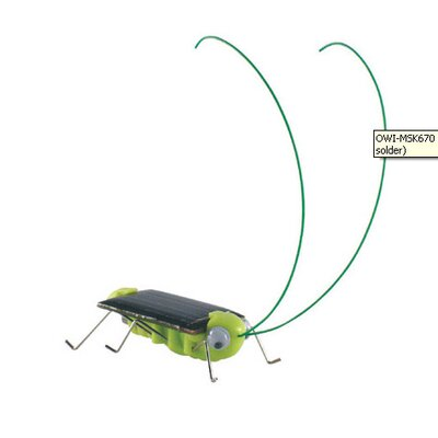 OWI Robots Solar Frightened Grasshopper Kit