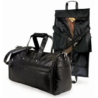 U s traveler koskin leather 2 in 1 carry on garment bag for Wedding dress garment bag for plane